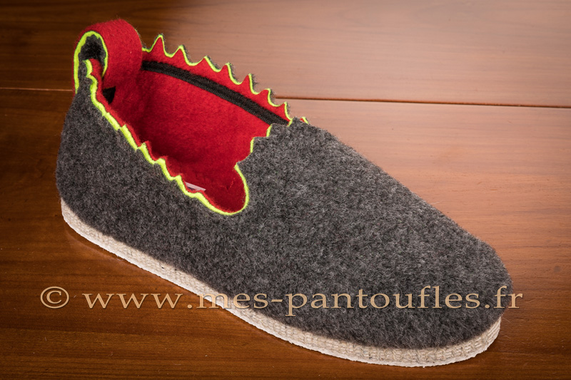 Pantoufles anthracite design - 9c141