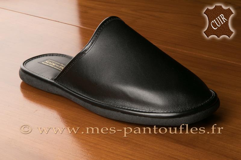 5a404fabb5956 Pantoufles homme cuir - N° 9fer10