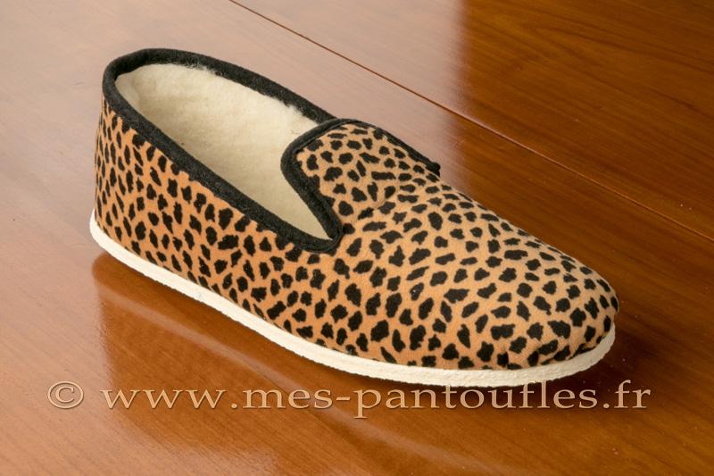 0d4b73cd1507e Charentaises léopard semelle antidérapante - N° 9fer79