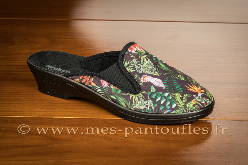 Mules femme forêt tropicale - 9rplum09