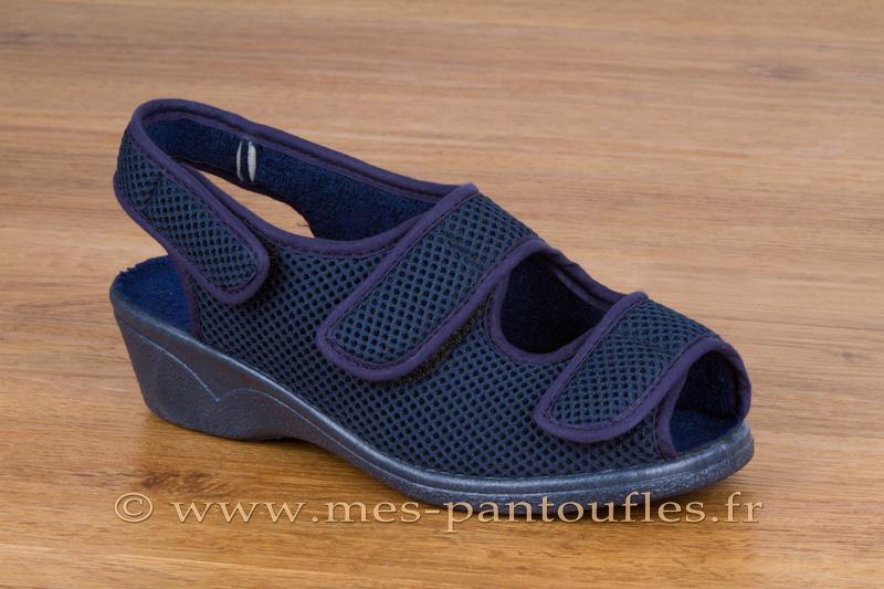 d9d3dad1813ea Chaussures scratch femme marine à bout ouvert - N° 9scratch06