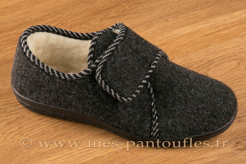 f452595304eee Chaussons scratch femmes gris anthracite - N° 9scratch07