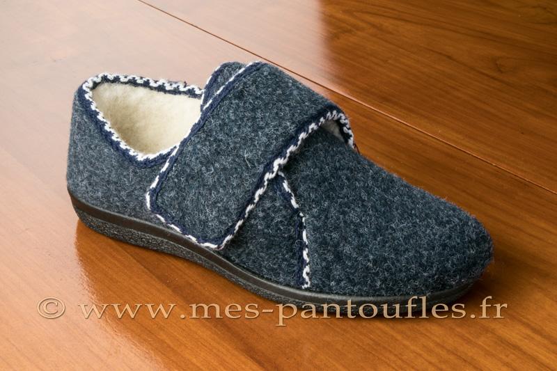 2361dee2c85af Chaussons scratch femmes gris bleu - N° 9scratch08