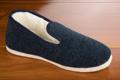 9afar155 Véritables charentaises feutre bleu uni <br>Pointure 43 à 43.90 EUR