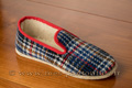 9agor61 Véritables charentaises tweed bleu <br>Pointure 38 à 22.95 EUR
