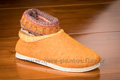 Charentaises montantes tricot orange - n°9bot12