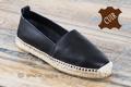 9esp061 Espadrilles cuir noir pour femme <br>Pointure 38 à 83.70 EUR
