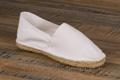 9espt200 Espadrilles cousues main en toile blanche <br>Pointure 41 à 21.90 EUR