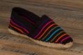 9espt210 Espadrilles cousues main en toile rayée noir multicolor <br>Pointure 46 à 21.90 EUR