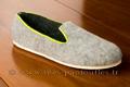 9fer77 Charentaises gris clair coupe design semelle antidérapante <br>Pointure 37 à 35.90 EUR