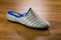 9fer97 Mules à talon compensé tweed bleu/gris <br>Pointure 37 à 31.92 EUR
