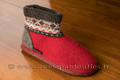 9gies11 Bottines laine tricotées rouge montagne <br>Pointure 41 à 49.90 EUR