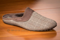 Mules hommes velours tweed marron - n°9mulc066