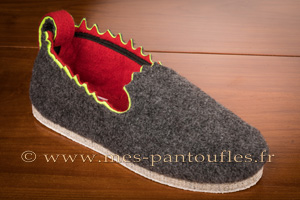 Pantoufles anthracite design