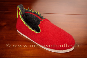 Pantoufles rouges design