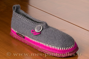 Chaussons Giesswein gris et violet
