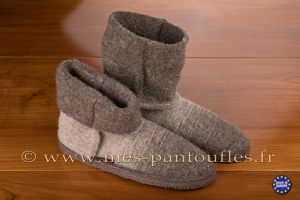Bottines laine taupe